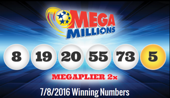MegaMillions 7.8.2016 winning numbers